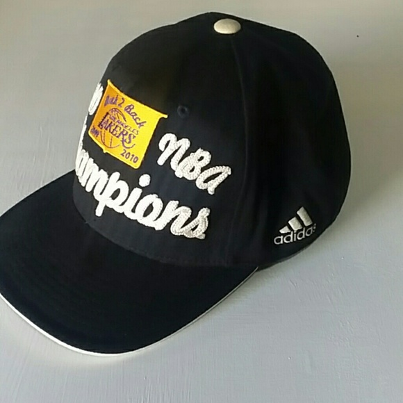 adidas Other - Adidas Los angeles lakers Back2Back champs NBA Hat bae1e122486